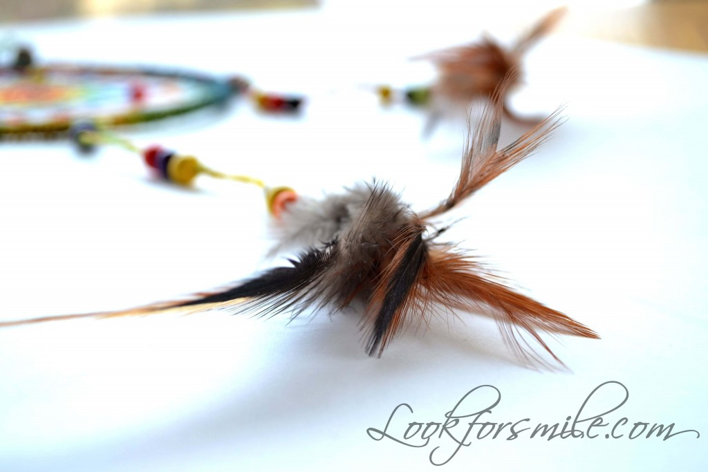Dream catcher feathers - look for smile
