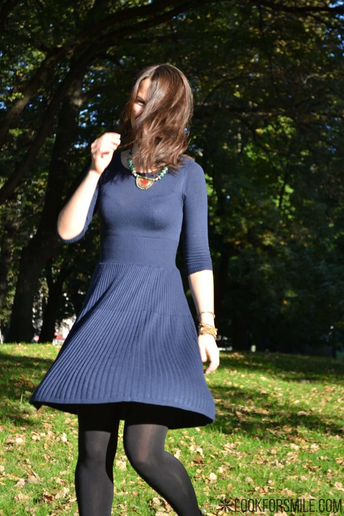 dark blue dress - blog - Lookforsmile.com