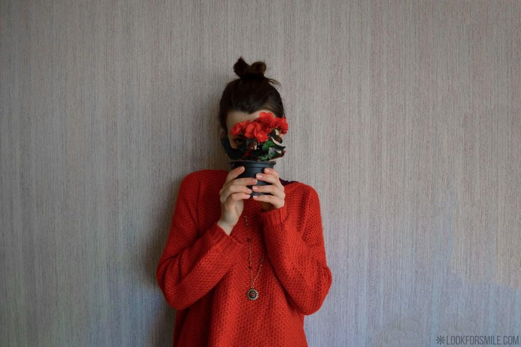 Pļāpas un oranžs džemperis - blogs - Lookforsmile.com