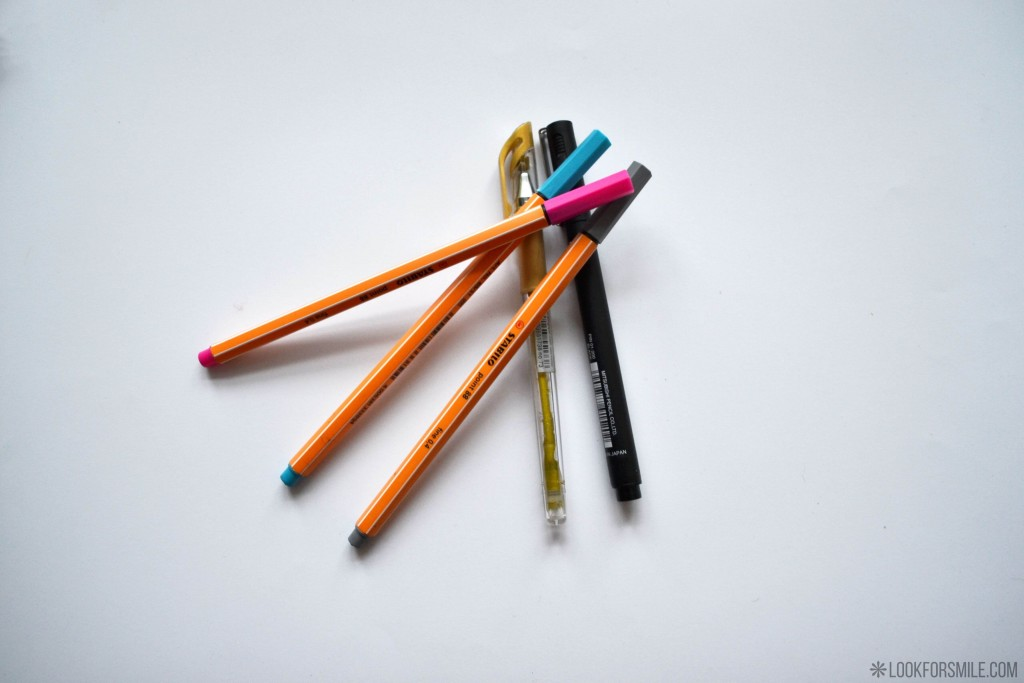 colourful pens - blog - Lookforsmile.com