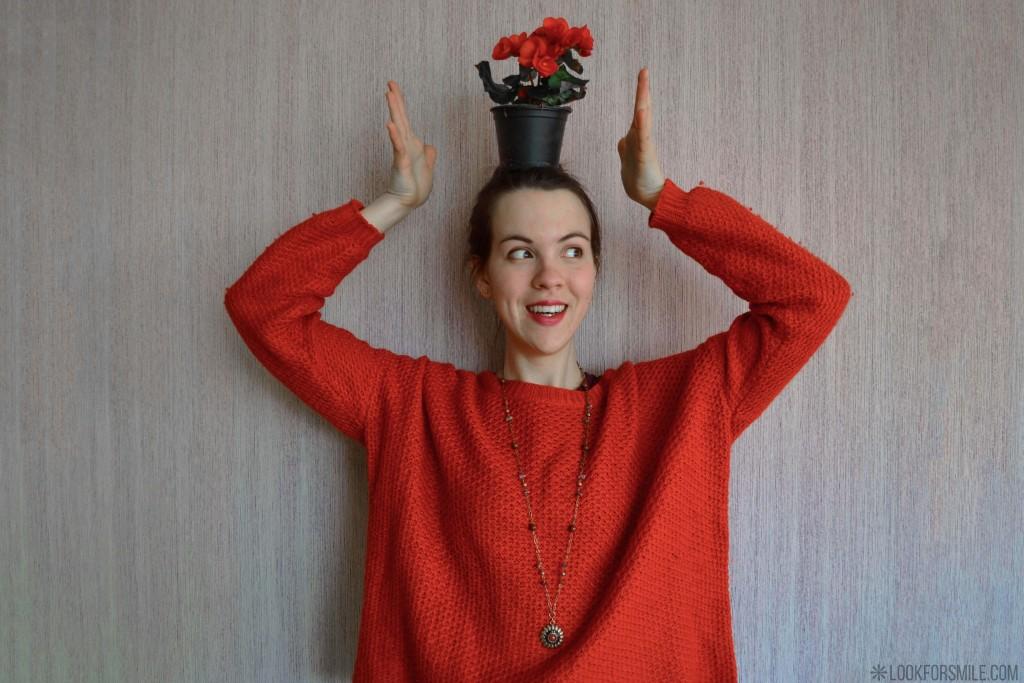 Oranžs džemperis - blogs - Lookforsmile.com