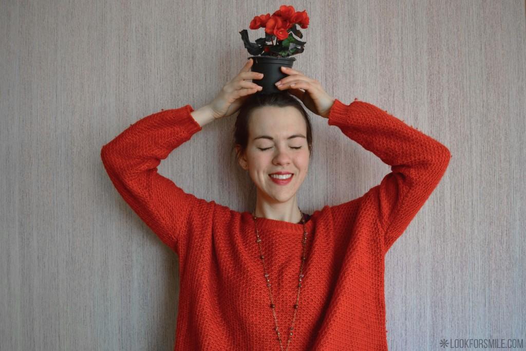 dienasgrāmatas ieraksts, oranžs džemperis - blogs - Lookforsmile.com
