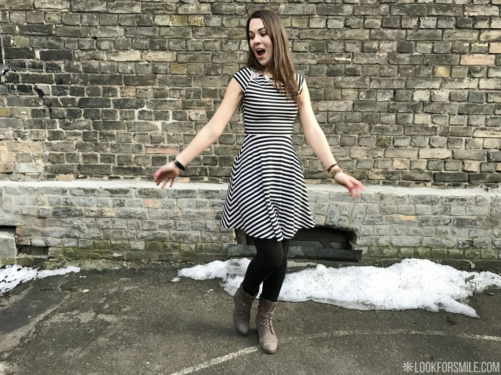 striped dress ootd - blog - Lookforsmile.com