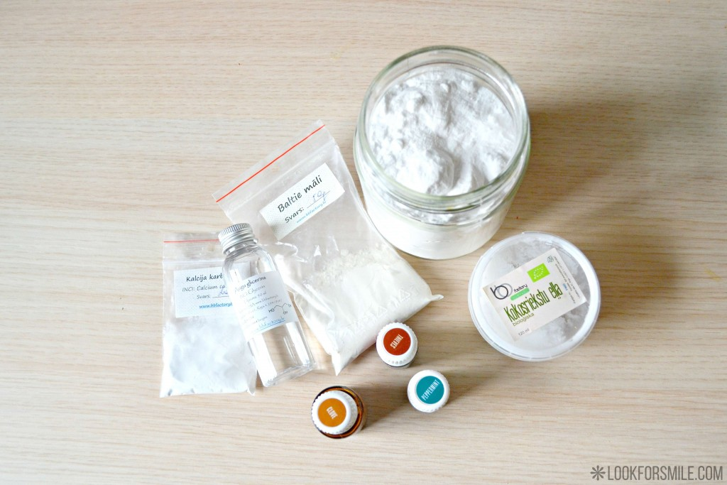 ingredients for homemade toothpaste - blog - Lookforsmile.com