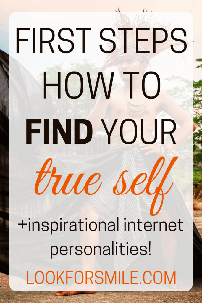 how to find your true self poster - blog - Lookforsmile.com