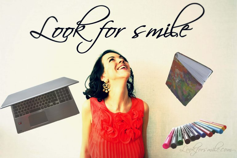 look for smile - computer, planner, felt-tip pen