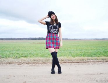 checked skirt - blog - Lookforsmile.com