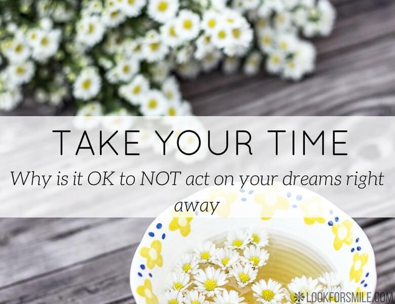 take your time procrastination - blog - lookforsmile.com