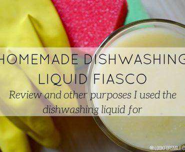 homemade dishwashing liquid review - blog - Lookforsmile.com