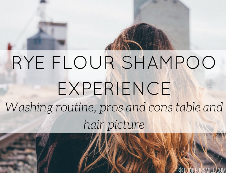 Washing hair with rye flour