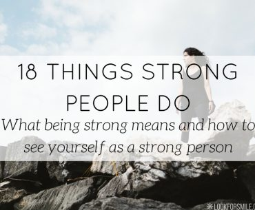 18 things strong people do and you can do too