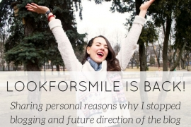 blogging pause - blog - Lookforsmile.com